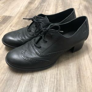 Born Black Leather Wingtip Naleigh Oxfords